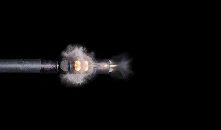 High speed photography AR-15 rifle bullet 1